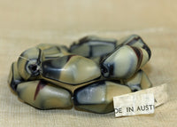 Vintage Austrian Matte Tan and Black Beads
