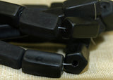 Vintage Czech Matte Black Beads from the 1960s