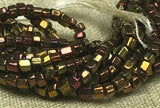 Mini Hank of Vintage 9º Cut Copper Iris Beads