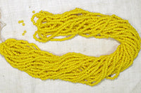 Venetian Yellow Seed Beads, 10º original hank!
