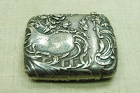 Silver Victorian Matchbox with repossée