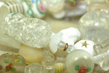 Strand of Amazing Vintage White Glass -