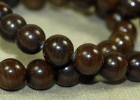 Brown Mother of Pearl Beads, Vintage 1960s stock