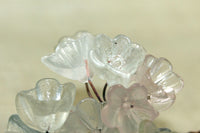 Italian Glass Flowers on Wire - Clear Flower