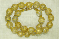 Antique Clear and Gold Wedding Cake Beads