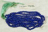 "Vintage Czech Royal Blue ""Marjorie Brand"" Beads"
