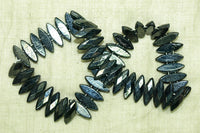 Vintage Czech Glass Hematite Nail Heads
