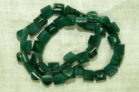 Vintage Czech Glass Pine Green Nail Heads