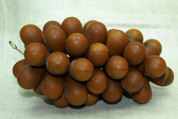 Vintage Czech Grape Clusters, Large Brown