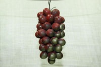 Vintage Czech Grape Clusters, Small Red with Gold Splash