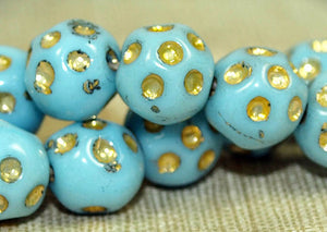 Super Funky 1940s Czech Glass Beads