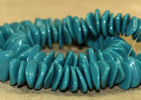 Strand of Opaque Deep Turquoise German Glass Beads