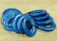 Set of Smooth Oval Donuts; German Glass Beads