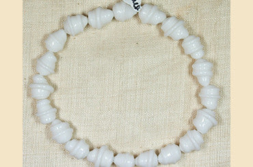 Vintage Japanese Wound White Glass Beads