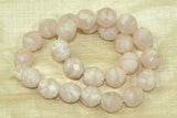 Vintage  Japanese Glass Beads - Soft Pink Satina Beads