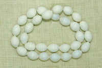 Vintage White and Gray Japanese glass Beads