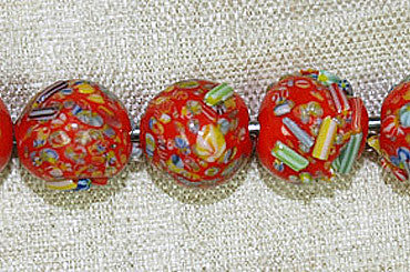 Japanese Multi-colored Glass Bead