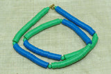 "Vintage 80s Plastic ""Vinyl"" Disc Beads, Blue & Green 6mm"