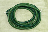 Two strand of 6MM Green Vinyl Disc Beads