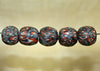 Five Funky Vintage 60s Glass Beads from Indonesia; Lou Zeldis Component Collection
