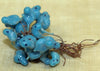 Vintage Italian Blue Glass Birds on a wire!