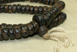 Tibetan wooden Prayer bead strand