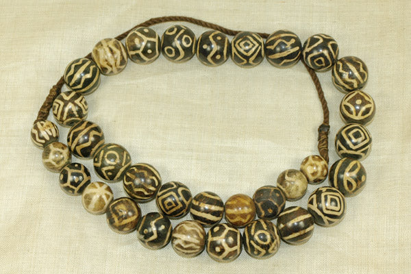 Strand of Pumtek Beads from Thailand