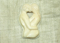 The Lovers; Natural Bone - Lou Zeldis Pendant