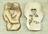 The  Lovers; Tea-Stained Bone - Lou Zeldis Pendant