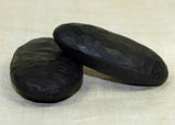 Medium Textured Black Palmwood Ovals; Lou Zeldis Collection