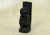 Small Hand-Carved Figurine, Black Palmwood; Lou Zeldis Studio