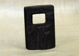 Rectangular Black Palmwood Pendant, Lou Zeldis Men's Collection