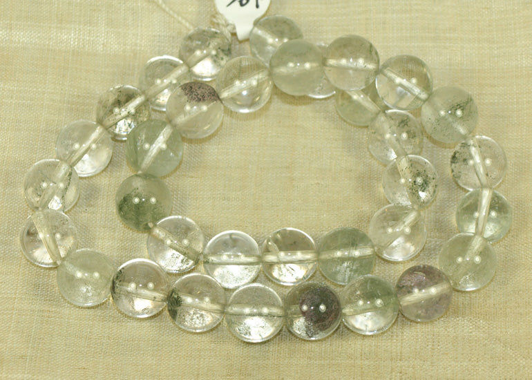 Strand of 12mm Quartz Beads from Lou Zeldis Collection