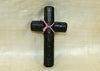 Textured Black Palmwood Cross; Lou Zeldis Collection