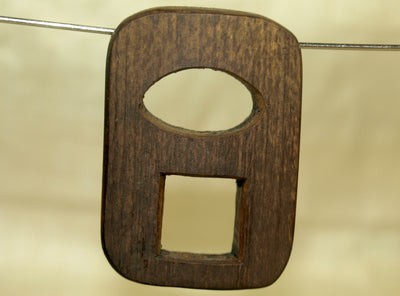 Dark Brown Palmwood Pendant; Lou Zeldis Collection