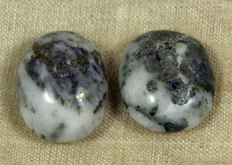 Moss Agate Cabochons; Lou Zeldis Collection