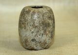 Large Ancient Greenish Fossil Bead from Indonesia; Lou Zeldis Studio