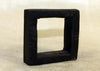 Large Black Palmwood Square Component; Lou Zeldis Collection