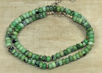 Short Neclace of Chrysoprase Beads; Lou Zeldis Collection