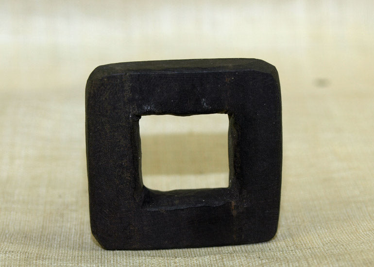 Black Palmwood Square Component; Lou Zeldis Collection
