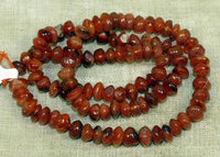 Strand of 5mm Carnelian Nuggety Saucers; Lou Zeldis Studios