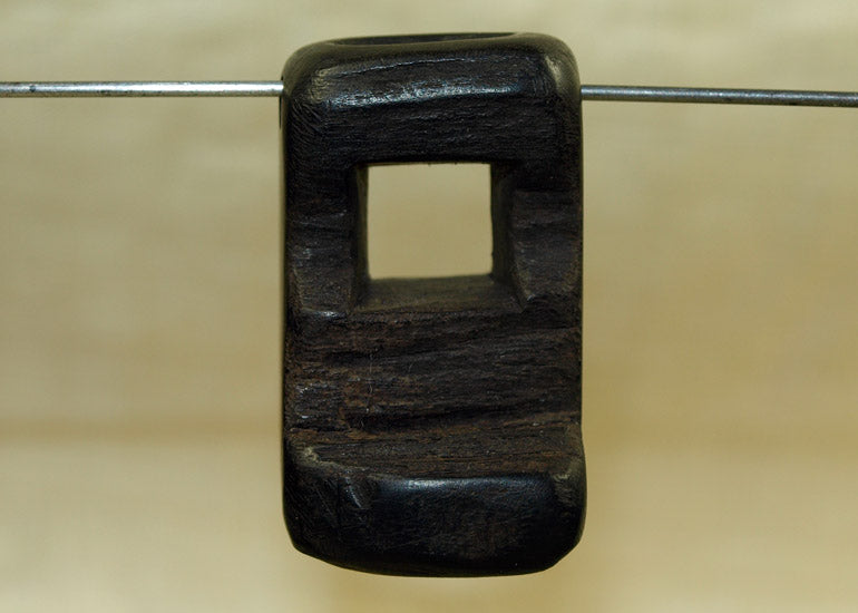 Small Palmwood Pendant Component, Lou Zeldis Collection