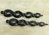 Pair of Twisted Water Buffalo Jewelry Components; Lou Zeldis Studio