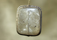Rectangular Shape Quartz Bezel-set with Silver from Nepal; Lou Zeldis Collection