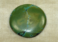 Vintage Chinese Turquoise Cabochon; Lou Zeldis Collection