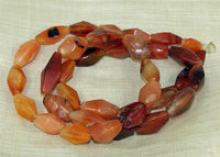 Strand of Hand-Carved Carnelian Beads from the Lou Zeldis Collection