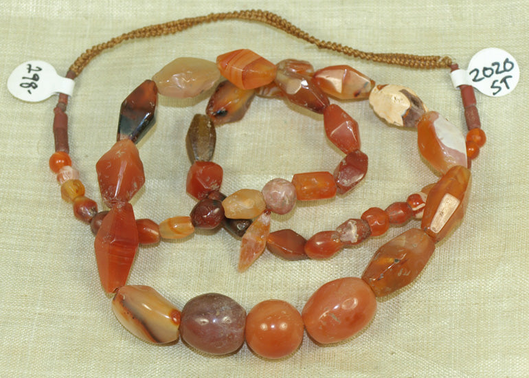 Collection of Mixed Carnelian and Semi-Precious Gemstone Beads