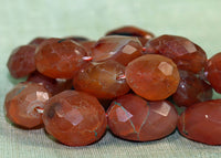 Strand of Faceted Carnelian Stone Beads from the Lou Zeldis Collection