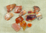 11.5 grams of Rough, Raw Fire Opal Crystals; Lou Zeldis Component Collection