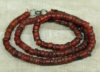 Short Strand of Small 5mm Carnelian Beads